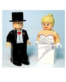 Wedding Bride & Groom Version A - Custom Designed Minifigures